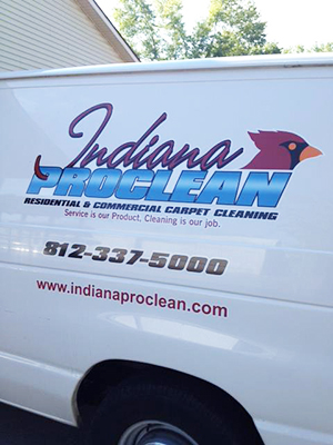 Bloomington carpet cleaning services - Indiana ProClean Van